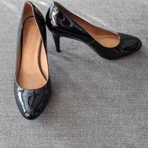 Corso Como Black Patent Leather Heels SZ 9